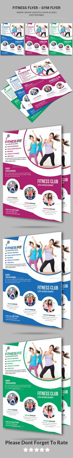 Fitness Flyer Gym Flyer — Photoshop PSD #clean flyer #health • Available here → https://graphicriver.net/item/fitness-flyer-gym-flyer/13816253?ref=pxcr