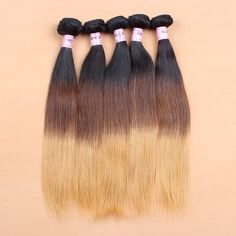 Brazilian T Color Ombre 1b/4#/27# Virgin Hair Weave Extension Grade 6a Quality | Wholesale Hair Extension Factory