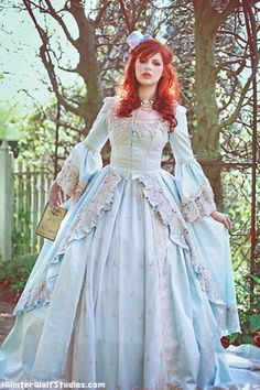 18th century inspired rococo gown