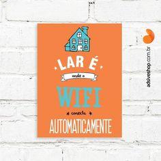Placa Decorativa   Wifi Lar