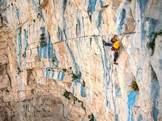 Climbing Ali Baba, Aiglun, France (Photograph by Sam Bie).