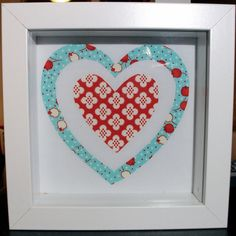 Large hearts fabric picture