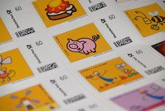 """""""TOM – Briefmarkenbogen"""" • 1 Bogen mit 20 Motiven • 60er Briefmarken (Standardbrief bis 20 Gramm, 2014) • lustige TOM-Illustrationen"""