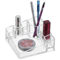 Acrylic Corner Cosmetic Organizer | The Container Store
