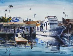 Check out this item in my Etsy shop https://www.etsy.com/listing/228089700/original-watercolor-newport-morning