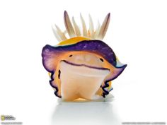 N is for Nudibranch, such a happy looking fellow :) a nudibranch is a species of sea snail which evolved out of its shell early on in its evolutionary history.