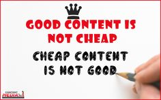 For good content marketing