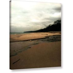 ArtWall Kevin Calkins Winter Beach and Stream Gallery-Wrapped Canvas, Size: 36 x 48, White
