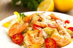 Shrimp tomato Food