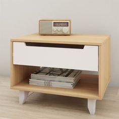 Found it at Wayfair - Nordik 1 Drawer Nightstand White Nightstand, Floating Nightstand, Open Shelving, Shelves, Modern Furniture, Furniture Design, Furniture Removal, Affordable Furniture, Plywood Furniture