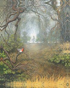 Inga Moore's illustrations from The Secret Garden