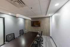 For high traffic corporate environments, Parterre flooring provides natural ambiance & is a quality, affordable option for corporate & office flooring Luxury Vinyl Flooring, Luxury Vinyl Tile, Office Floor, Houzz, Office Chic, Floors, Table, Conference Room, Steel