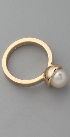 Instead of a big hunkin' diamond for our 10 year hubs, buy me this with a few gold bands <3 I am more of a pearl girl anyway.