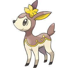 #Deerling winter form from the #Pokemon Black & White official art set. http://www.pokemondungeon.com/pokemon-black-and-white-versions