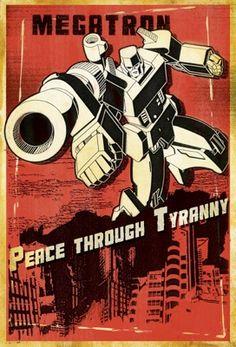 Megatron: Peace Through Tyranny #transformers #decepticons