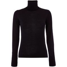 Max Mara Lampara polo neck knit jumper ($185) ❤ liked on Polyvore featuring tops, sweaters, black, women, black turtleneck sweater, turtle neck sweater, black knit sweater, chunky knit turtleneck and knit tops