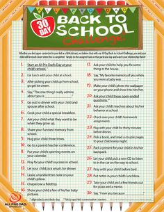 #All Pro Dad 30 Day Back to School Challenge  http://www.allprodad.com/tools-and-resources/build-relationships/all-pro-dad-30-day-back-to-school-challenge/