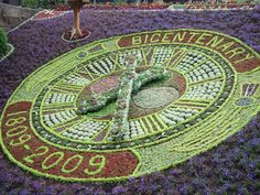 Floral clock in Princes Street Gardens, Edinburgh, Scotland