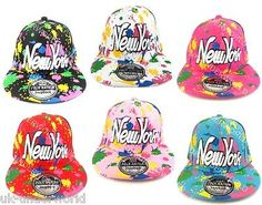 #Childrens boys #girls new york ny #paint splash snapback hip hop baseball cap ha,  View more on the LINK: 	http://www.zeppy.io/product/gb/2/380866818842/