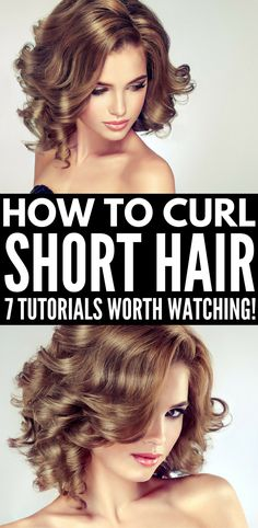 How to Curl Short Hair | If you want to know how to curl short hair with a curling iron, with a flat iron / straightener, with a wand, or the best overnight techniques WITHOUT heat, we've got you covered. Whether you have really short hair, a bob, a lob, or something in between, these EASY hair tutorials for beginners will teach you how to get sexy waves fast. We've also included our favorite curl defining products!!! #hair #hairstyle #haircare #curlyhair