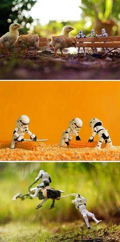 Mini Star Wars Adventures (by Zahir Batin via Bored Panda)