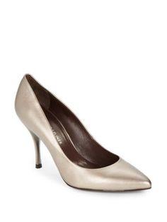 DONALD J PLINER Brave Metallic Leather Point Toe Pumps. #donaldjpliner #shoes #pumps