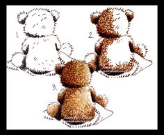 Just4FunCrafts and DoveArt Studios: Tutorial  Several different ways to and texture to bears, etc.