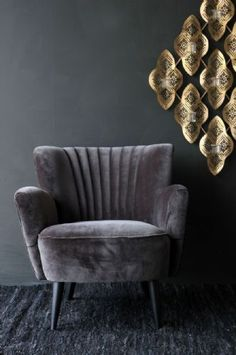 Soho Velvet Armchair - Chinchilla Grey