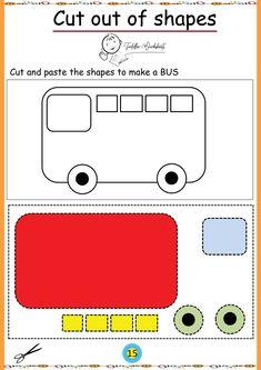 free preschool cutting worksheets Toddler Worksheets, Preschool Worksheets, Preschool Fine Motor Skills, Free Preschool, Cut And Paste, Preschool Printables