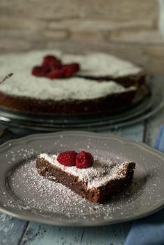 Französische Schokoladentarte - schokokuchen ohne mehl