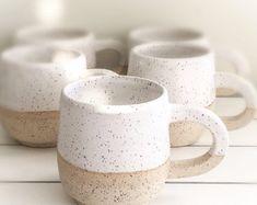 Handmade pottery mugs Ceramics Pottery Mugs, Stoneware Mugs, Ceramic Cups, Ceramic Pottery, Pottery Art, Ceramic Art, Slab Pottery, Pottery Studio, Pottery Ideas