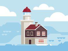 Lighthouse by Scott Tusk #Design Popular #Dribbble #shots