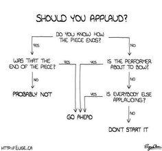 I like this for teaching concert etiquette.