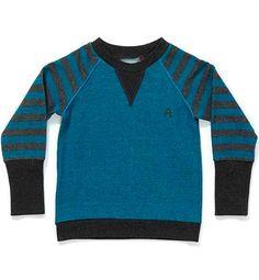 Blå Stribet Fante Pullover Fra Albababy