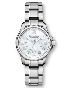 Victorinox Swiss Army Watch, Women's Stainless Steel Bracelet 241365 - Women's Watches - Jewelry & Watches - Macy's