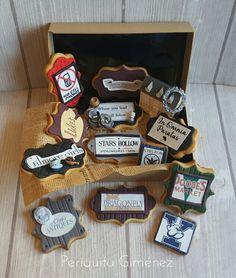 Galletas Decoradas Fondant. Gilmore Girls Cookies. Periquita Giménez