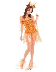 2019 New Halloween Costume COS Mermaid Dress Adult Female Sexy Goldfish Cosplay Costume Dresses for Women Dropshipping. Best Toddler Halloween Costumes, Fairy Halloween Costumes, Fancy Costumes, Pop Culture Halloween Costume, Halloween Dress, Cosplay Costumes, Haunted Halloween, Halloween Carnival, Easy Halloween