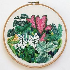 plant #embroidery