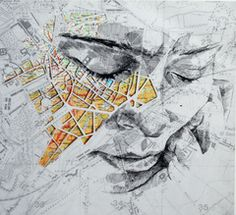 "Ed Fairburn, ""Western Front III,"" pen and ink  http://www.mikewrightgallery.com/ed-fairburn.html"