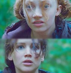 Foxface and Katniss from The Hunger Games, I loved how they put this little scene in the movie.