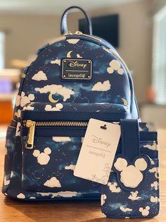 Loungefly Mickey Cloud Mini Backpck/Card on Mercari Cute Mini Backpacks, Stylish Backpacks, Girl Backpacks, Cute School Bags, Cute Disney Outfits, Mini Mochila, Kawaii Bags, Disney Purse, Accesorios Casual