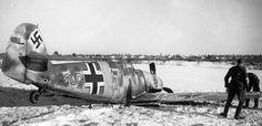 Messerschmitt Bf 109F-2 de la 54e escadre de chasse allemande du sous-officier Alfred Döllefeld, le 28 janvier 1942.