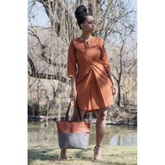Orange Shirt dress, African shirt, African dress for women, elephant fabric dress for African women African Print Shirt, African Shirts, African Print Dresses, African Fashion Dresses, African Dress, Ankara Fashion, African Attire, African Wear, African Women