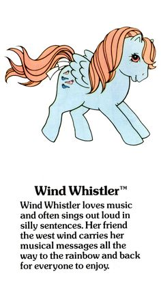 My Little Pony Wind Whistler fact file ...