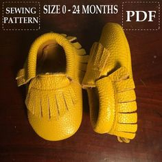 Baby Moccasins Sewing Pattern Easy and by ButterflyYourWorld