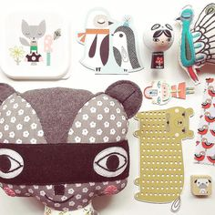 You see that raccoon at the bottom left? That is one of my all time favorite products we ever licensed. And we've licensed art for thousands of products. These cheery products by @suzyultman #landofnod #chroniclebooks #artagent #illustration #surfacedesign #adreamcometrue #myfavoritestuffedanimal #psikhouvanjou . Animal Parade. #suzycharacters #lillarogers #art #illustration #artagent #surfacedesign #artlicensing #creativelife #artistsuccess
