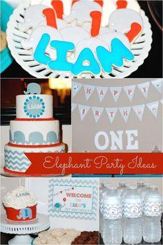 elephant theme birthday party ideas www.spaceshipsandlaserbeams.com