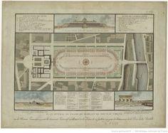 Plan général du Champ de Mars et du nouveau Cirque, où la nation Française a prêté le serment fédératif sur l'Autel de la Patrie le 14 juillet 1790,…