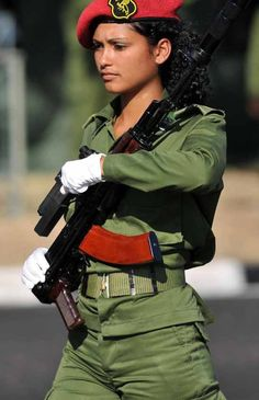 Army Girls, Female Soldier, Military Women, Armada, Bang Bang, Armed Forces, Guns, Woman, Easy
