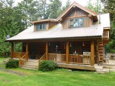 Lopez Island Cabin Rental: Cedar Ridge, Lopez Island Custom Log Home Retreat | HomeAway